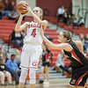 Madison Shifflett takes a jumpshot