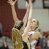 Madison Shifflett gets off a shot over Hannah Varner