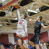 Zach Hall gets by Jared Patton for the layup