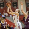 Madison Shifflett find a hole in the lane and goes for a layup