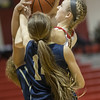 Madison Shifflett powers up on a layup pulling down the fowl