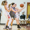 Natile Jenkins and Naomi Gibson forces a turnover on Madison Smallwood.