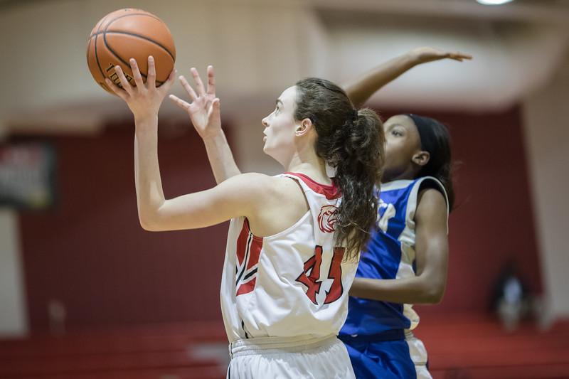 Lexi Dean takes a jumpshot under the basket