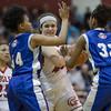 Catherine Orndorff pulls down a rebound
