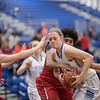 Brooke Vetter fights to hold on to a rebound