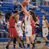 Aiyamah Tyler-Cooper tries to pass the ball but it is tipped by Addison Shenk