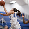 Chloe Brooks beats Alyanah Tyler-Cooper to the basket