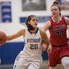 Chloe Brooks cuts in towards the basket by Haylee Howard-Radde