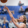 Meredith Vetter powers down the lane for a layup