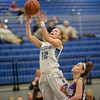 Merredith Vetter sails by Kathryn Potts for a layup