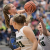 Brooke Vetter goes for a layup.