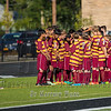 Boys JV High School Soccer.  Ithaca Little Red at Corning Hawks. September 15, 2016.