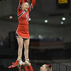 Senior Tori Cook is held up during a stunt
