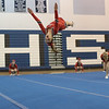 Grace Rogers flips through the air
