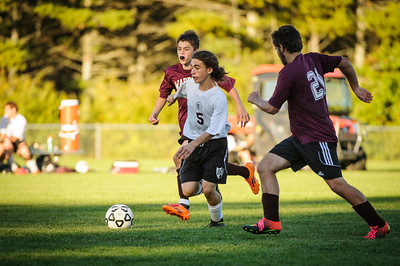 JV soccer between Wilton (maroon) and Derryfield (white) held on October 7, 2016 at the The Derryfield School in Manchester, NH.