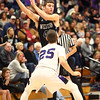 12-2-16<br /> Northwestern vs Western boys basketball<br /> Western's Reed Hubbert looks for a pass.<br /> Kelly Lafferty Gerber | Kokomo Tribune