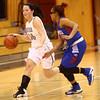 12-6-16<br /> Kokomo vs Western girls basketball<br /> Western's Gabi King dribbles down the court.<br /> Kelly Lafferty Gerber | Kokomo Tribune