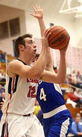 12-16-16<br /> Cass vs Tipton boys basketball<br /> Cass' Kace Kitchel goes to the basket.<br /> Kelly Lafferty Gerber | Kokomo Tribune