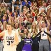 12-2-16<br /> Northwestern vs Western boys basketball<br /> Northwestern's student section cheers after they score a basket.<br /> Kelly Lafferty Gerber | Kokomo Tribune