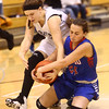 12-6-16<br /> Kokomo vs Western girls basketball<br /> Western's Sophia Wright and Kokomo's Olivia Branch battle over a loose ball.<br /> Kelly Lafferty Gerber | Kokomo Tribune