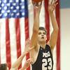 12-29-16<br /> Maconaquah vs Peru boys basketball<br /> Peru's Bailey Gardner shoots.<br /> Kelly Lafferty Gerber | Kokomo Tribune