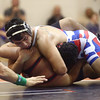12-13-16<br /> Kokomo vs Logansport wrestling<br /> Kokomo's Gavin Herrera defeats Logansport's Michael Salinas in the 195.<br /> Kelly Lafferty Gerber | Kokomo Tribune
