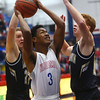 12-3-16<br /> Kokomo vs Lebanon boys basketball<br /> Kokomo's Keenen Wheeler looks for a shot.<br /> Kelly Lafferty Gerber | Kokomo Tribune