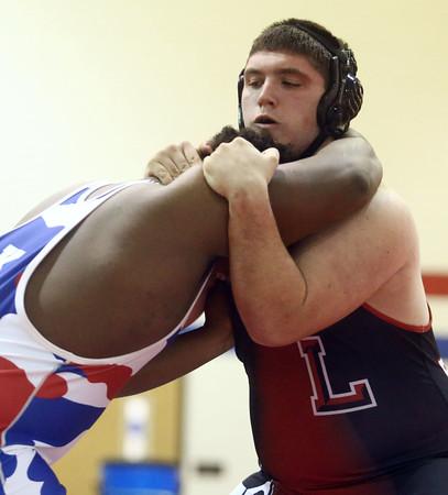 12-13-16<br /> Kokomo vs Logansport wrestling<br /> Logansport's Braxton Young defeats Kokomo's Javias Gray in the heavyweight.<br /> Kelly Lafferty Gerber | Kokomo Tribune