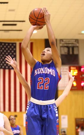 12-6-16<br /> Kokomo vs Western girls basketball<br /> Kokomo's Jayda Andrews shoots.<br /> Kelly Lafferty Gerber   Kokomo Tribune