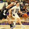 12-2-16<br /> Northwestern vs Western boys basketball<br /> Northwestern's Peyton Hawk dribbles down the court.<br /> Kelly Lafferty Gerber | Kokomo Tribune