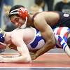 12-13-16<br /> Kokomo vs Logansport wrestling<br /> Logansport's Donovan Johnson defeats Kokomo's Jabian Shaffer in the 120.<br /> Kelly Lafferty Gerber | Kokomo Tribune