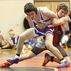 12-13-16<br /> Kokomo vs Logansport wrestling<br /> Logansport's Paydon Thomas defeats Kokomo's Austin Johnson in the 145.<br /> Kelly Lafferty Gerber | Kokomo Tribune