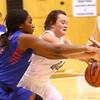 12-6-16<br /> Kokomo vs Western girls basketball<br /> Kokomo's Aubrion Woodard and Western's Caylan Fields go after the ball.<br /> Kelly Lafferty Gerber | Kokomo Tribune