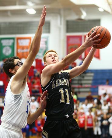 12-3-16<br /> Kokomo vs Lebanon boys basketball<br /> Lebanon's Will Byrd goes up for a basket.<br /> Kelly Lafferty Gerber | Kokomo Tribune