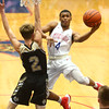 12-3-16<br /> Kokomo vs Lebanon boys basketball<br /> Kokomo's Trajan Deckard puts up a shot.<br /> Kelly Lafferty Gerber | Kokomo Tribune