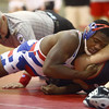 12-13-16<br /> Kokomo vs Logansport wrestling<br /> Kokomo's DaShaun Barbary defeats Logansport's Brayden Guire in the 182.<br /> Kelly Lafferty Gerber | Kokomo Tribune
