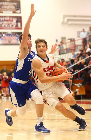 12-16-16<br /> Cass vs Tipton boys basketball<br /> Cass' Alec Eurit goes to the basket.<br /> Kelly Lafferty Gerber | Kokomo Tribune