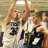 12-2-16<br /> Northwestern vs Western boys basketball<br /> Northwestern's Noah Dowden goes up to the basket.<br /> Kelly Lafferty Gerber | Kokomo Tribune