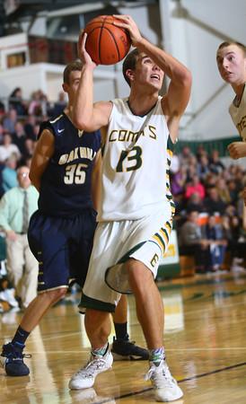 2-4-16 EHS vs Oak Hill Bbball <br /> Eastern's Braden Evans<br /> Kelly Lafferty Gerber   Kokomo Tribune