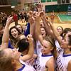 2-6-16 Tri Central girls basketball sectional win <br /> Tri Central celebrates after winning sectional.<br /> Kelly Lafferty Gerber | Kokomo Tribune