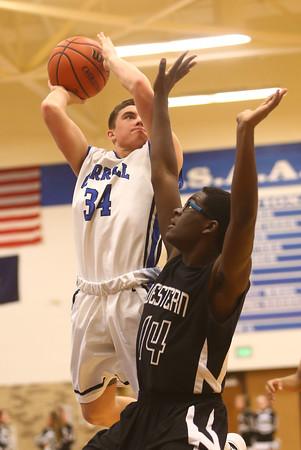 2-23-16<br /> Western vs Carroll boys basketball<br /> Carroll's Trey Filbrun<br /> Kelly Lafferty Gerber | Kokomo Tribune
