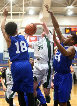 2-17-16<br /> Kokomo blue vs Eastern 8th grade basketball<br /> Eastern's Ethan Henry<br /> Kelly Lafferty Gerber | Kokomo Tribune