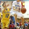 2-26-16<br /> Maconaquah vs Tri Central boys basketball<br /> Maconaquah's Chandler Pitts<br /> Kelly Lafferty Gerber | Kokomo Tribune