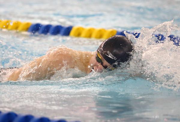 2-18-16<br /> Sectional swimming prelims<br /> Kokomo's Max White in the 200 Y Freestyle<br /> Kelly Lafferty Gerber   Kokomo Tribune