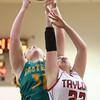 2-2-16 Taylor vs Eastern girls sectional basketball <br /> Eastern's Hailey Holliday and Taylor's Brie Boehler<br /> Kelly Lafferty Gerber | Kokomo Tribune