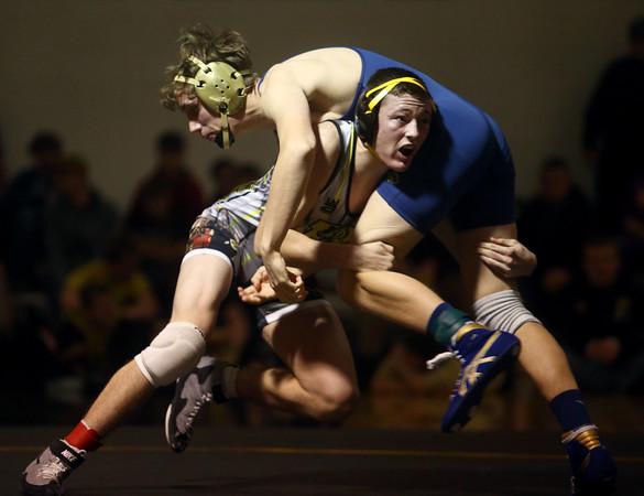 2-6-16<br /> Regional Wrestling<br /> Peru's Peyton Sturgill in the 152.<br /> Kelly Lafferty Gerber | Kokomo Tribune