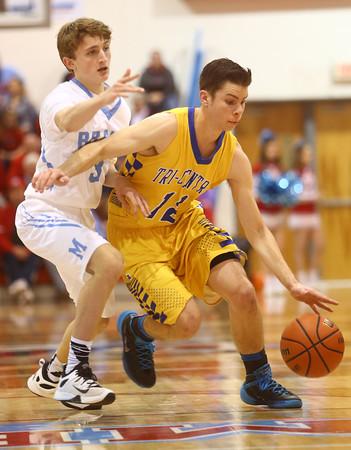 2-26-16<br /> Maconaquah vs Tri Central boys basketball<br /> <br /> Kelly Lafferty Gerber | Kokomo Tribune