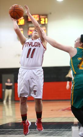 2-2-16 Taylor vs Eastern girls sectional basketball <br /> Taylor's Hannah Mullinax<br /> Kelly Lafferty Gerber   Kokomo Tribune
