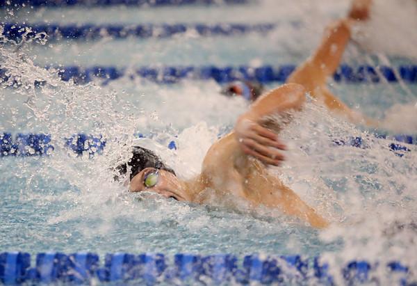 2-18-16<br /> Sectional swimming prelims<br /> Kokomo's Logan Hawk in the 50 Y Freestyle<br /> Kelly Lafferty Gerber   Kokomo Tribune