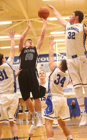 2-23-16<br /> Western vs Carroll boys basketball<br /> Western's Josh Beeler<br /> Kelly Lafferty Gerber   Kokomo Tribune